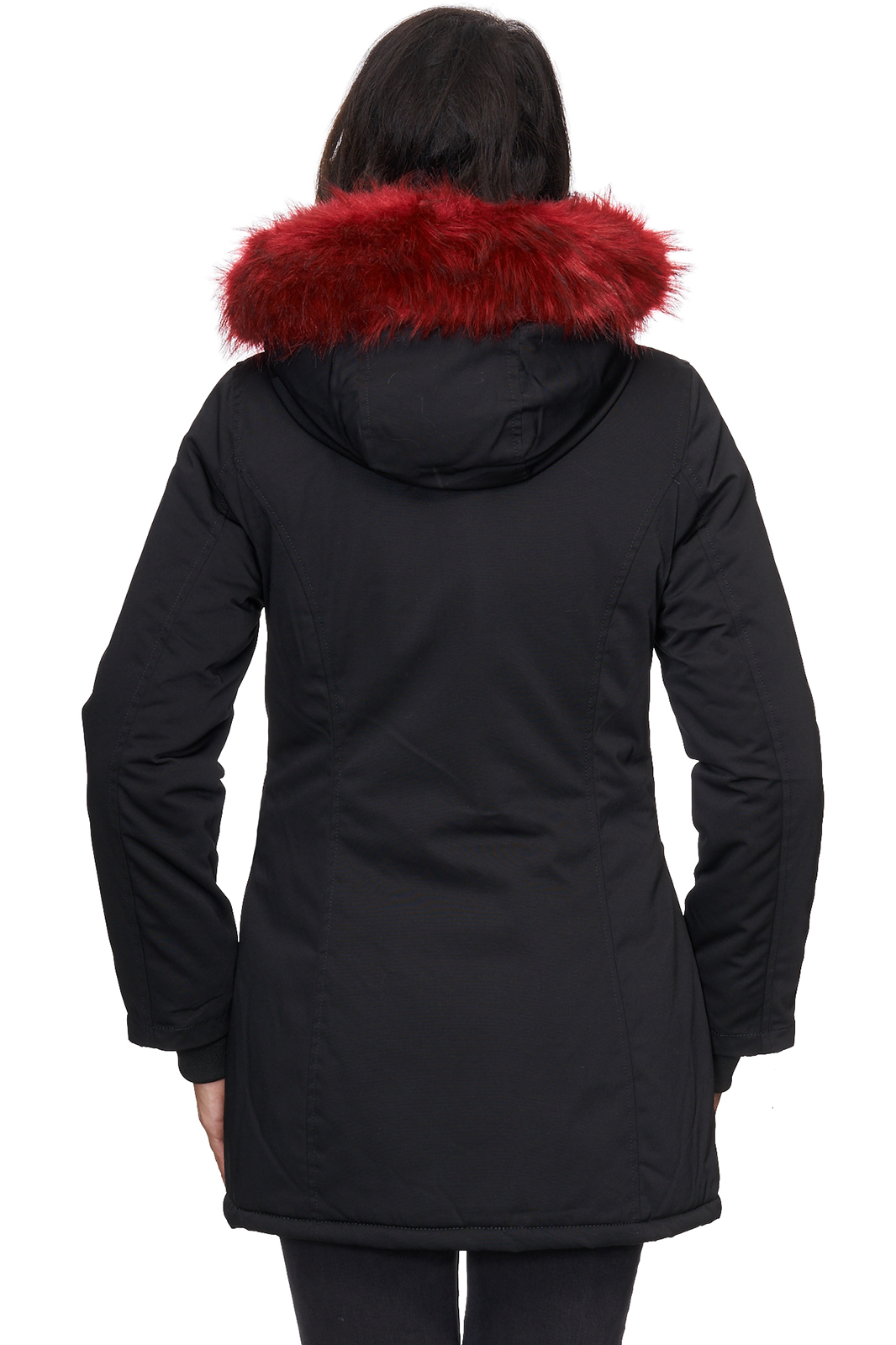 outdoor damen jacke winterjacke warme damenjacke parka mantel lang d 224 s xl ebay. Black Bedroom Furniture Sets. Home Design Ideas