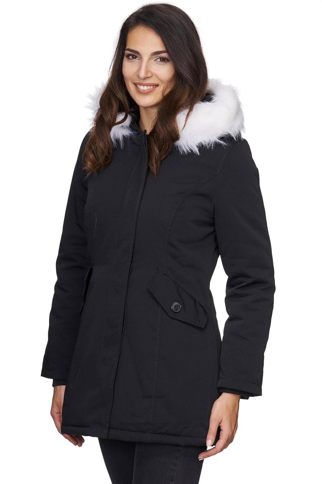 outdoor damen jacke winterjacke warme damenjacke parka mantel lang d 224 s xl ebay. Black Bedroom Furniture Sets. Home Design Ideas
