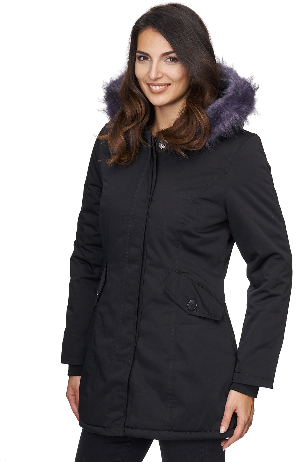damen outdoor jacke winterjacke bergangsjacke mantel parka schwarz khaki d 224 ebay. Black Bedroom Furniture Sets. Home Design Ideas