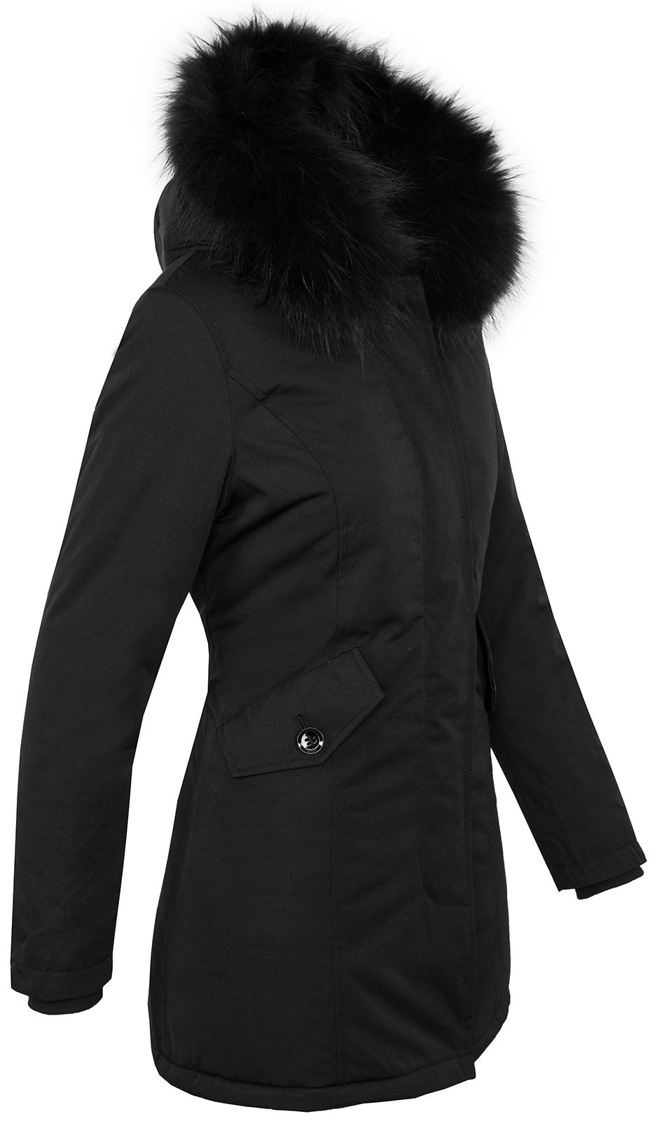 designer damen winter jacke parka mantel winterjacke gef ttert 36 38 40 42 d 218 ebay. Black Bedroom Furniture Sets. Home Design Ideas