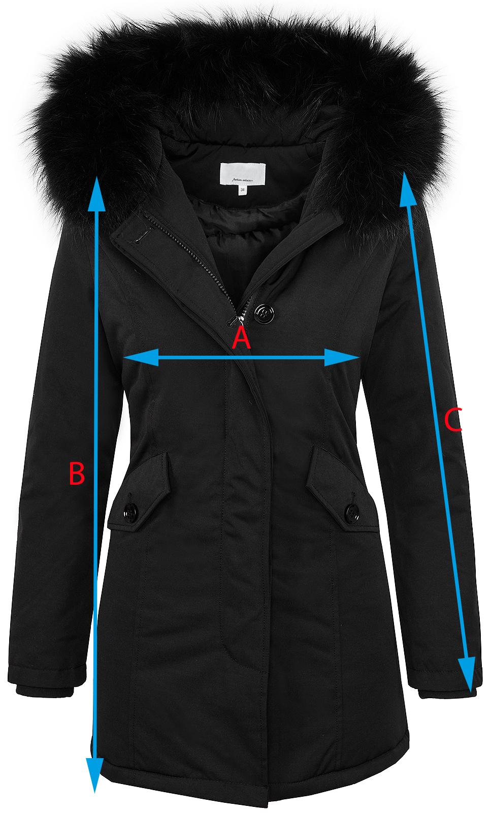 designer damen winter jacke parka mantel winterjacke. Black Bedroom Furniture Sets. Home Design Ideas