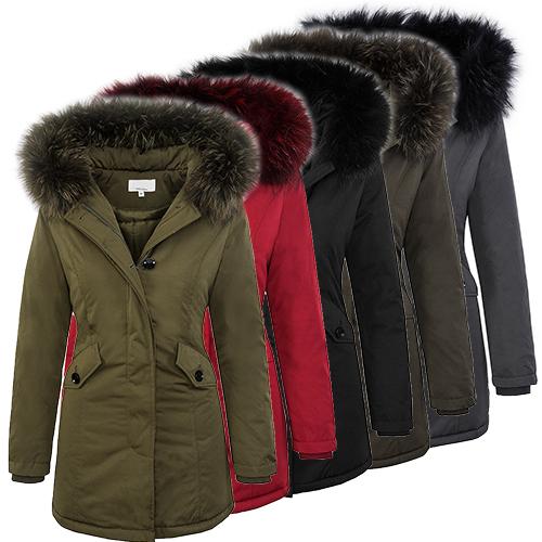 damen outdoor jacke damenjacke winter jacke warm echtpelz kapuze 36 38 40 42 ebay. Black Bedroom Furniture Sets. Home Design Ideas