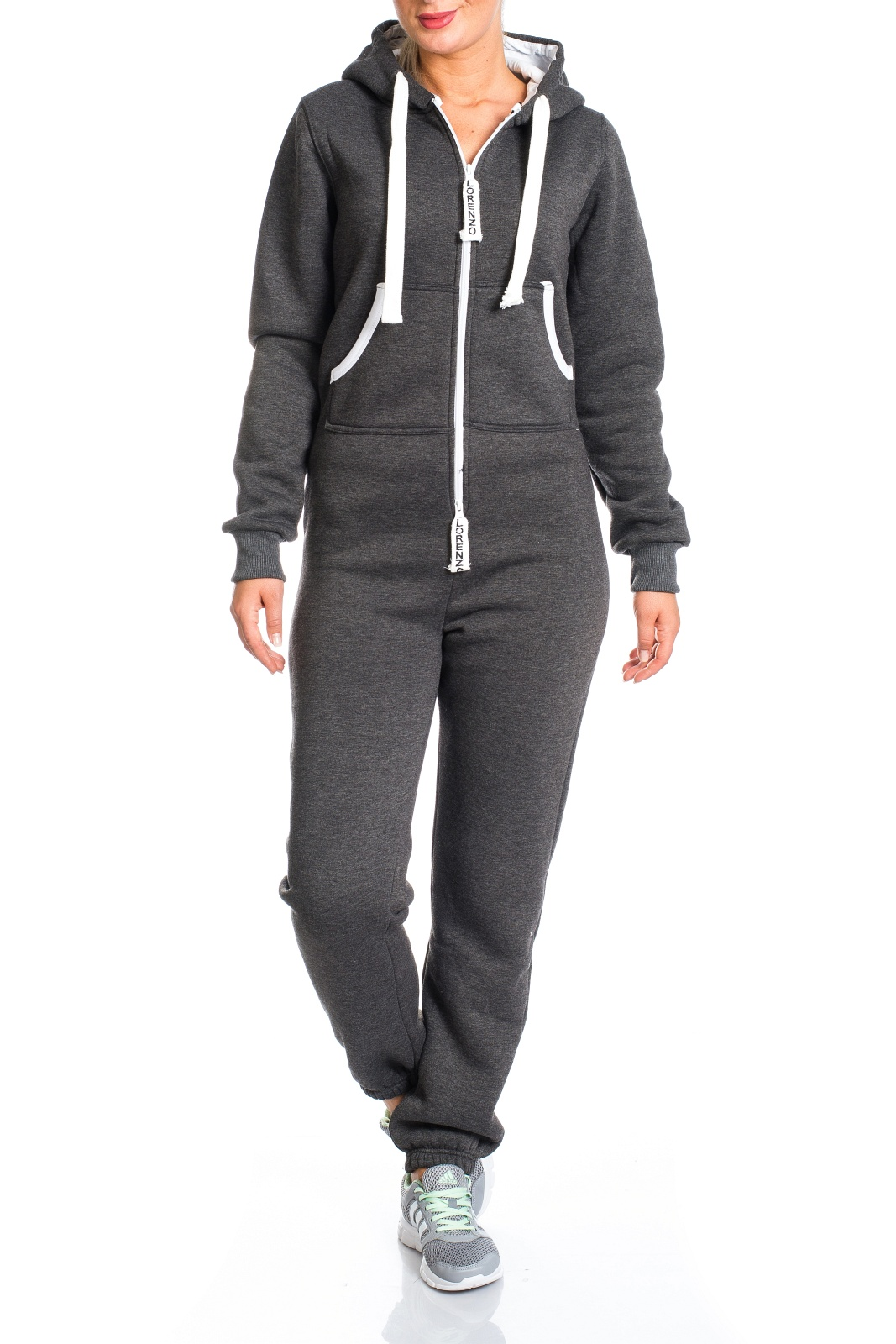 damen jumpsuit jogger jogging anzug trainingsanzug overall onesie ll 203c ebay. Black Bedroom Furniture Sets. Home Design Ideas