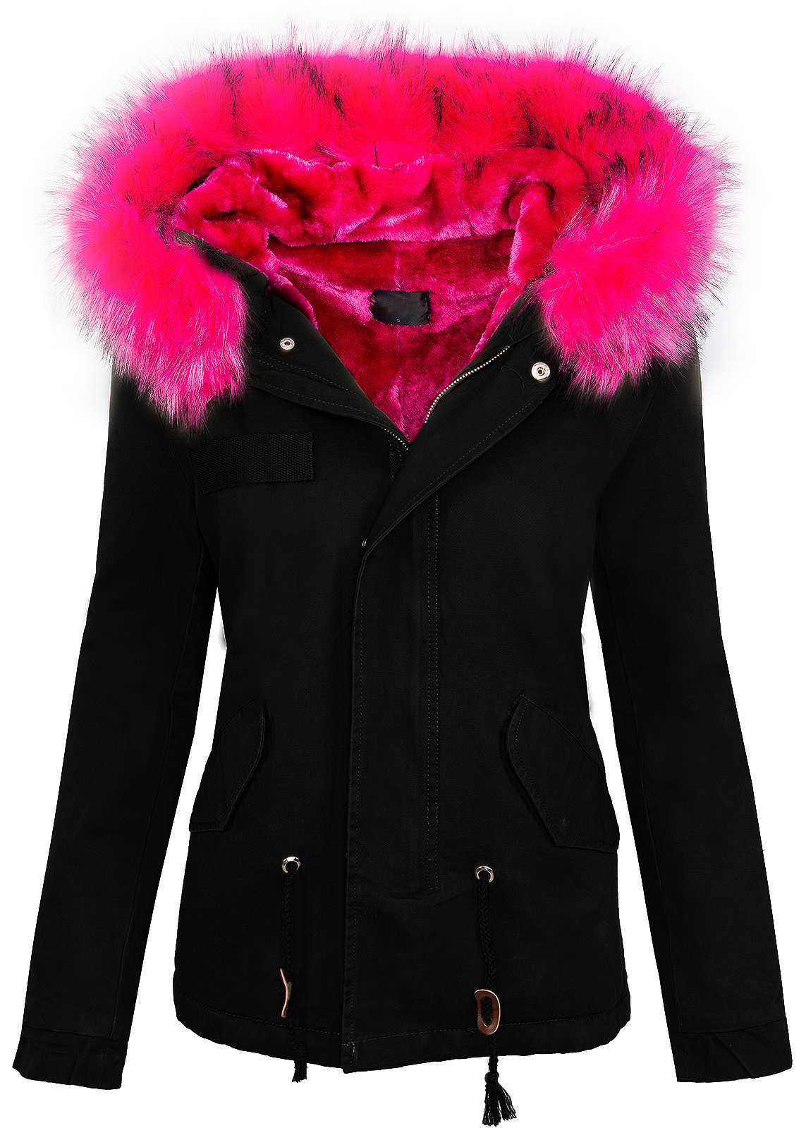 damen winter jacke damen parka vintage style mit kapuze xxl kunstfell d 223 s xl ebay. Black Bedroom Furniture Sets. Home Design Ideas