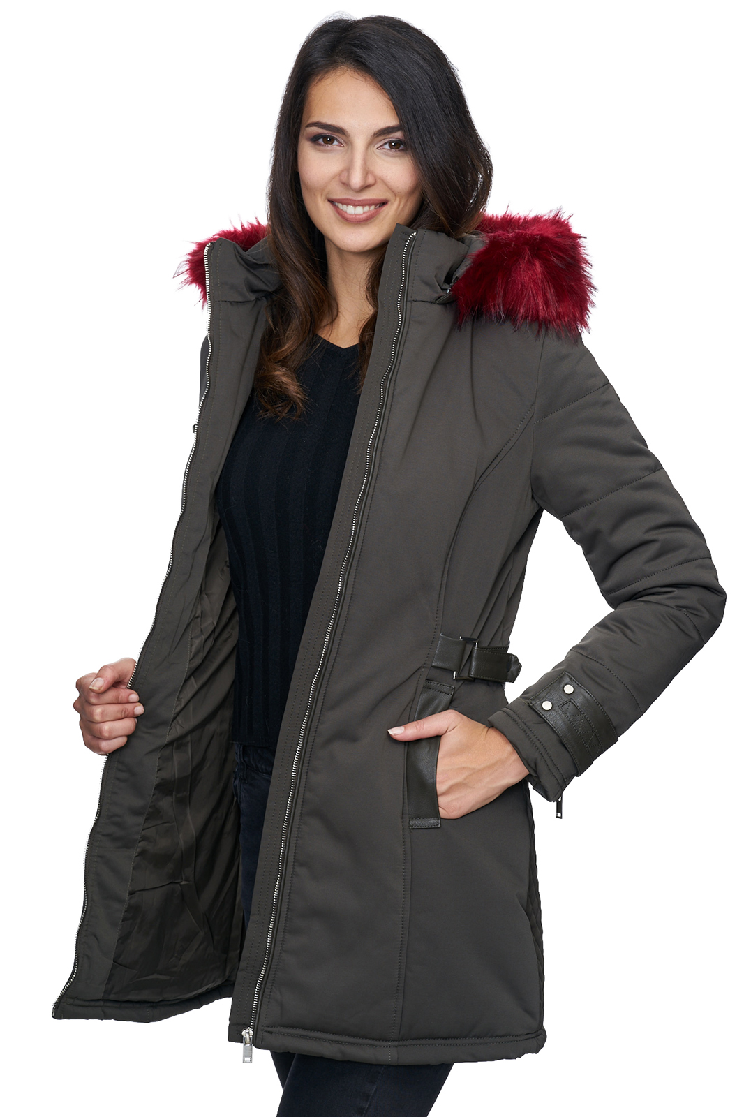 damen winter jacke mantel parka warm gef tterte. Black Bedroom Furniture Sets. Home Design Ideas