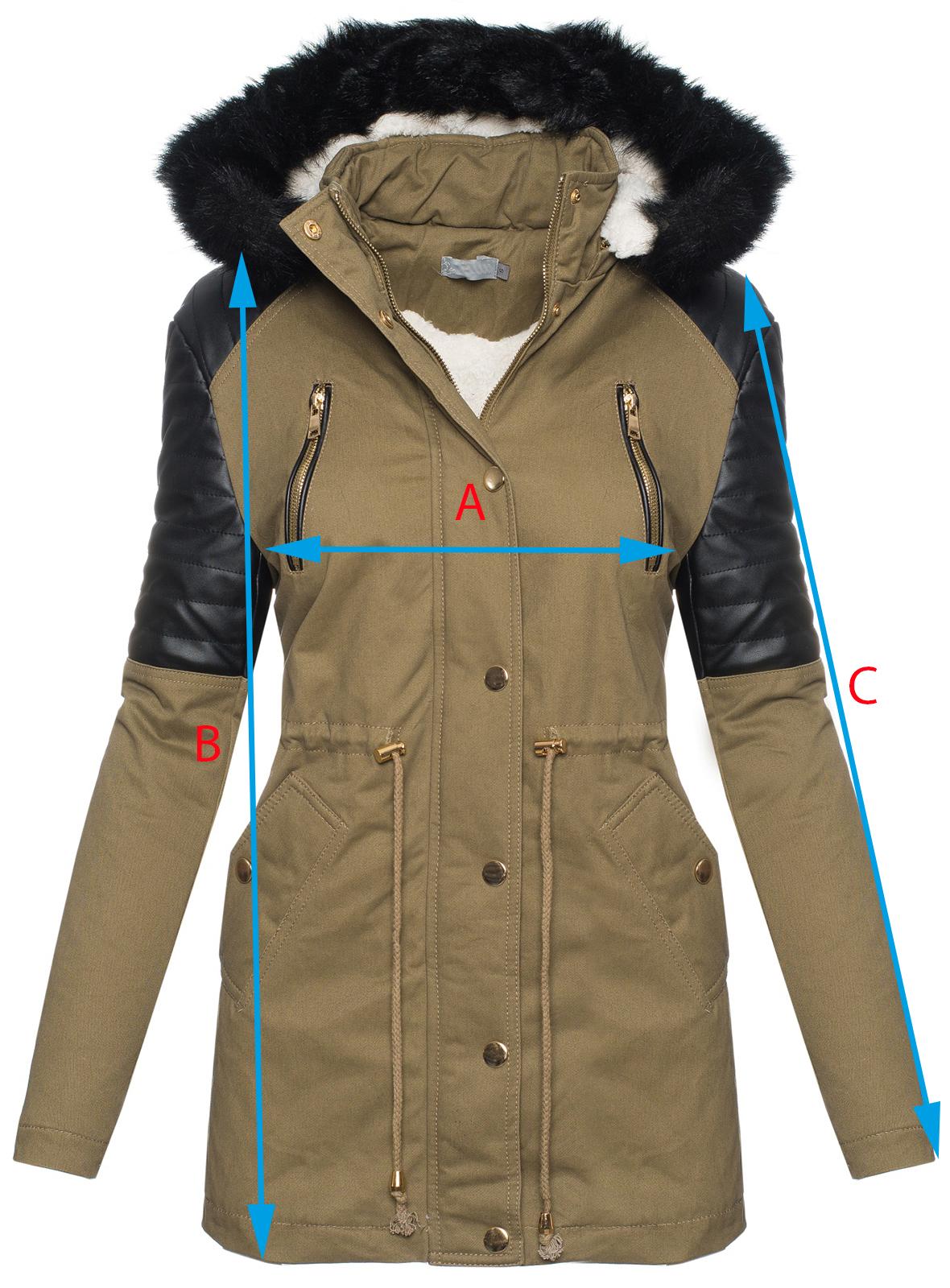 stylische damen winter jacke mantel parka winterjacke lang. Black Bedroom Furniture Sets. Home Design Ideas