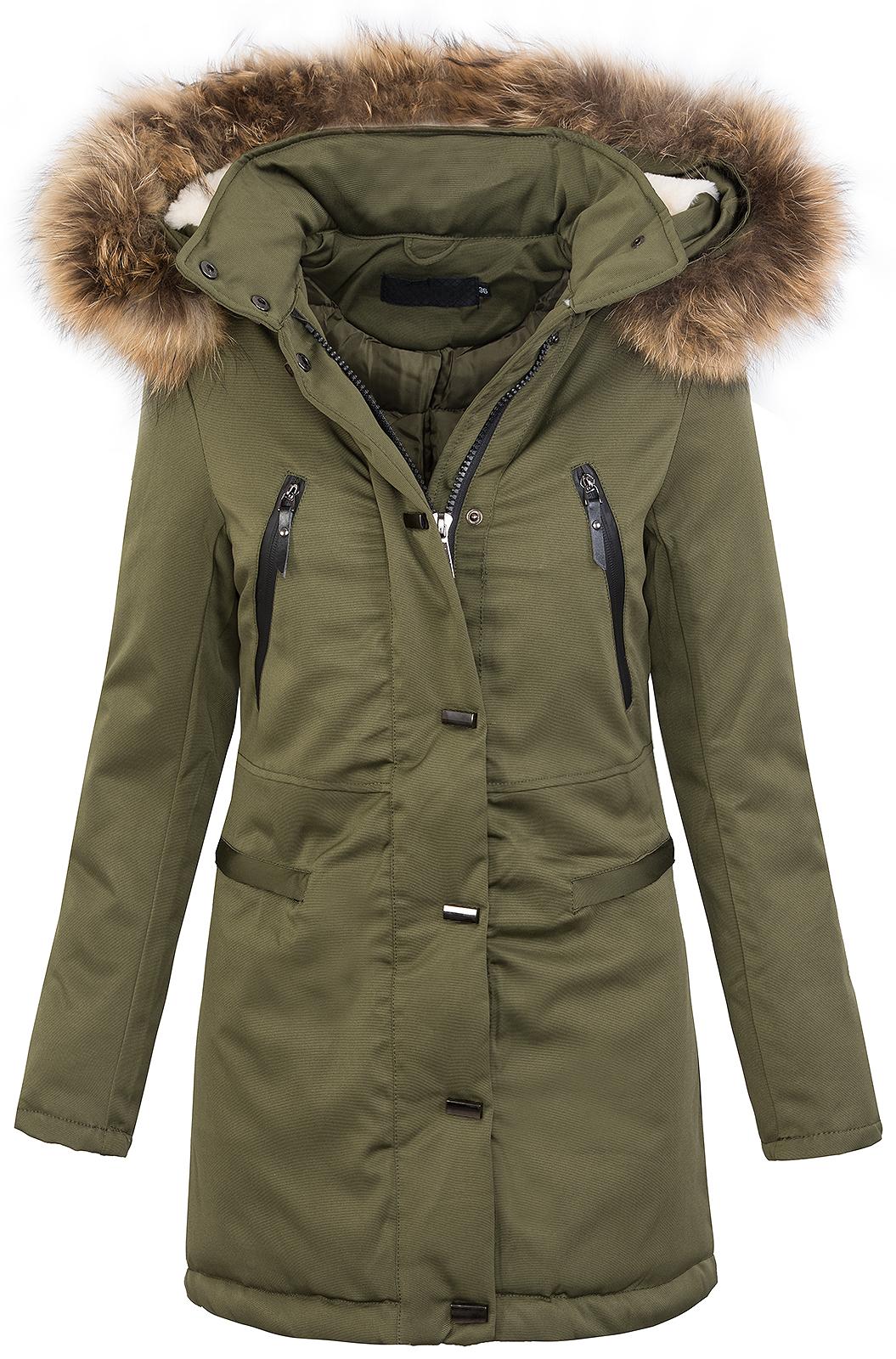 warme damen winter jacke parka lang mantel winterjacke fell kragen kapuze d 213 ebay. Black Bedroom Furniture Sets. Home Design Ideas