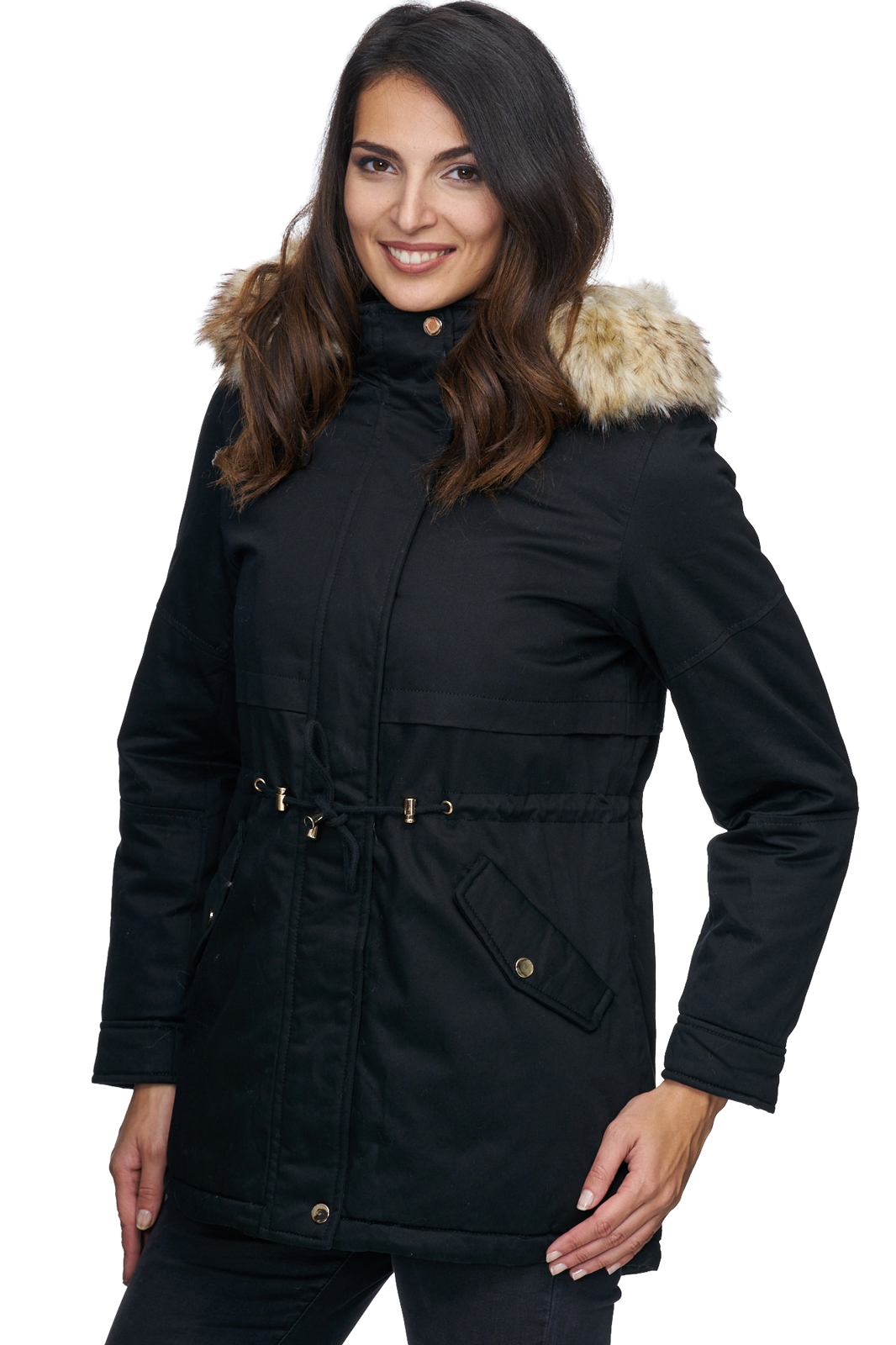 designer damen winterjacke parka warm mantel winter jacke. Black Bedroom Furniture Sets. Home Design Ideas