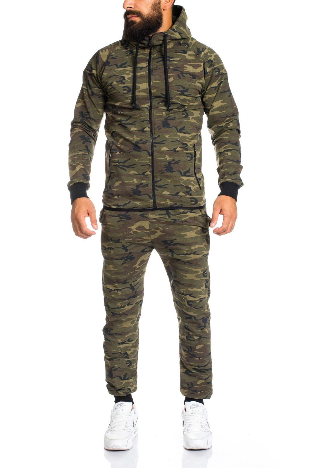 men 39 s camouflage army jogging suit jogging pants jacket. Black Bedroom Furniture Sets. Home Design Ideas