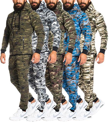 herren camouflage army jogginganzug jogging hose jacke. Black Bedroom Furniture Sets. Home Design Ideas