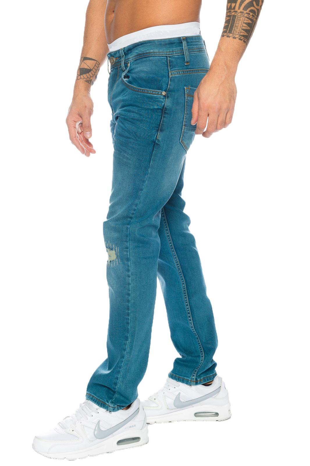 rock creek herren jeanshose blau herren jeans used look. Black Bedroom Furniture Sets. Home Design Ideas