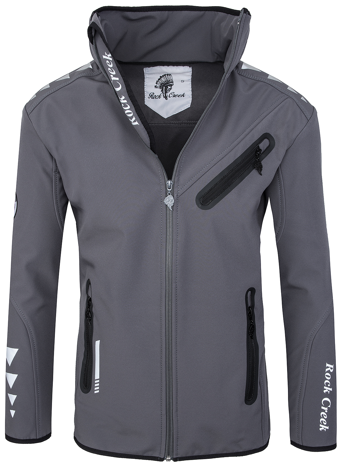 rock creek herren softshell jacke windbreaker bergangs outdoor jacke rc09 s 3xl ebay. Black Bedroom Furniture Sets. Home Design Ideas