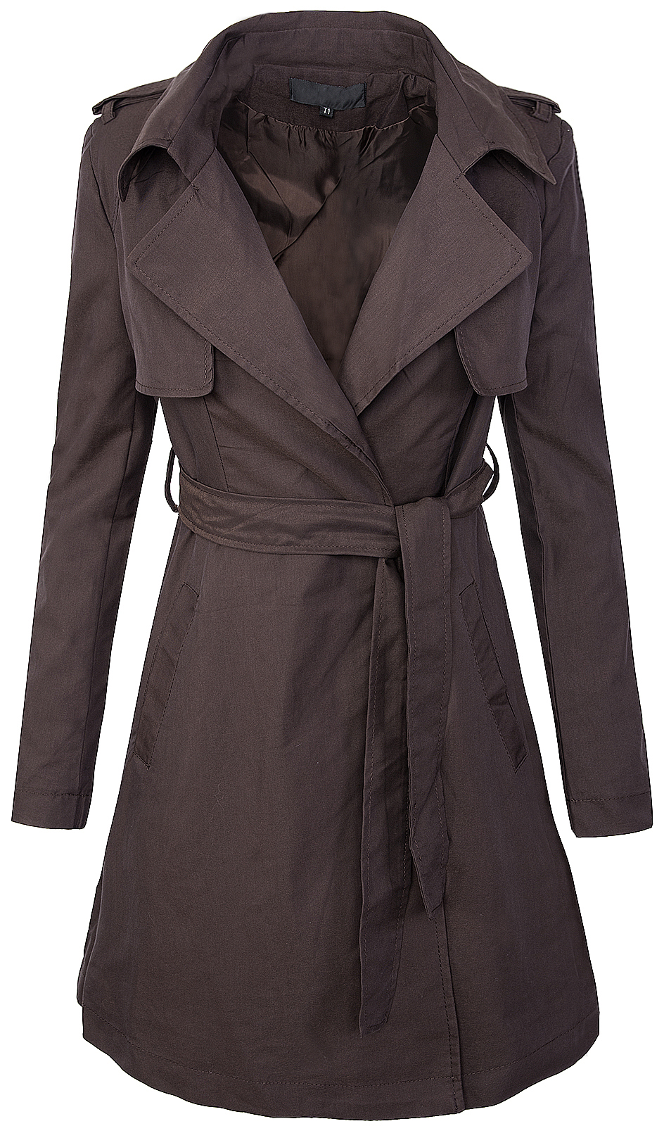 eleganter damen trenchcoat mantel damen blogger bergangs jacke damenjacke d 18 ebay. Black Bedroom Furniture Sets. Home Design Ideas