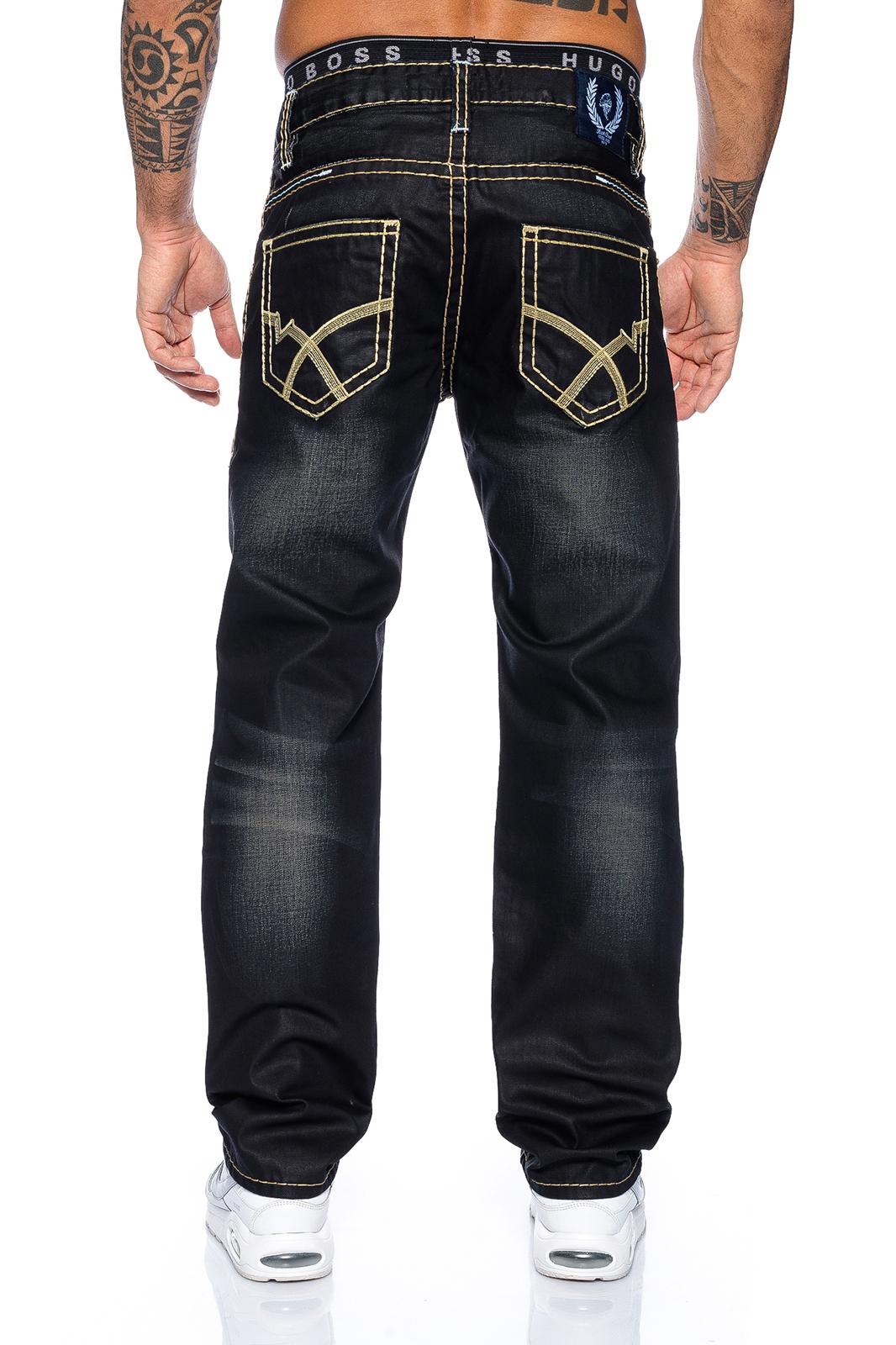 rock creek herren designer jeans hose schwarz coated dicke n hte rc 2060. Black Bedroom Furniture Sets. Home Design Ideas