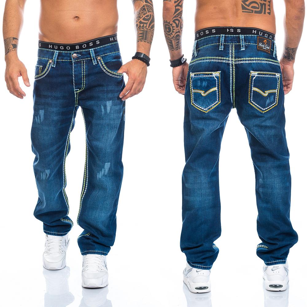 rock creek herren designer denim jeans hose dicke zier. Black Bedroom Furniture Sets. Home Design Ideas