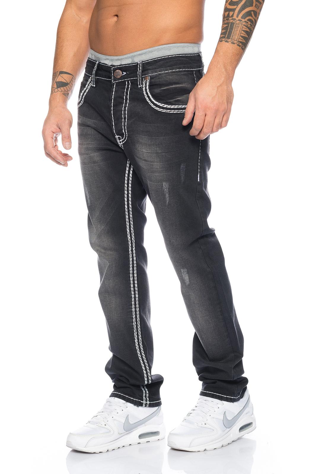 herren designer jeans hose grau dicke naht w29 w44 used. Black Bedroom Furniture Sets. Home Design Ideas