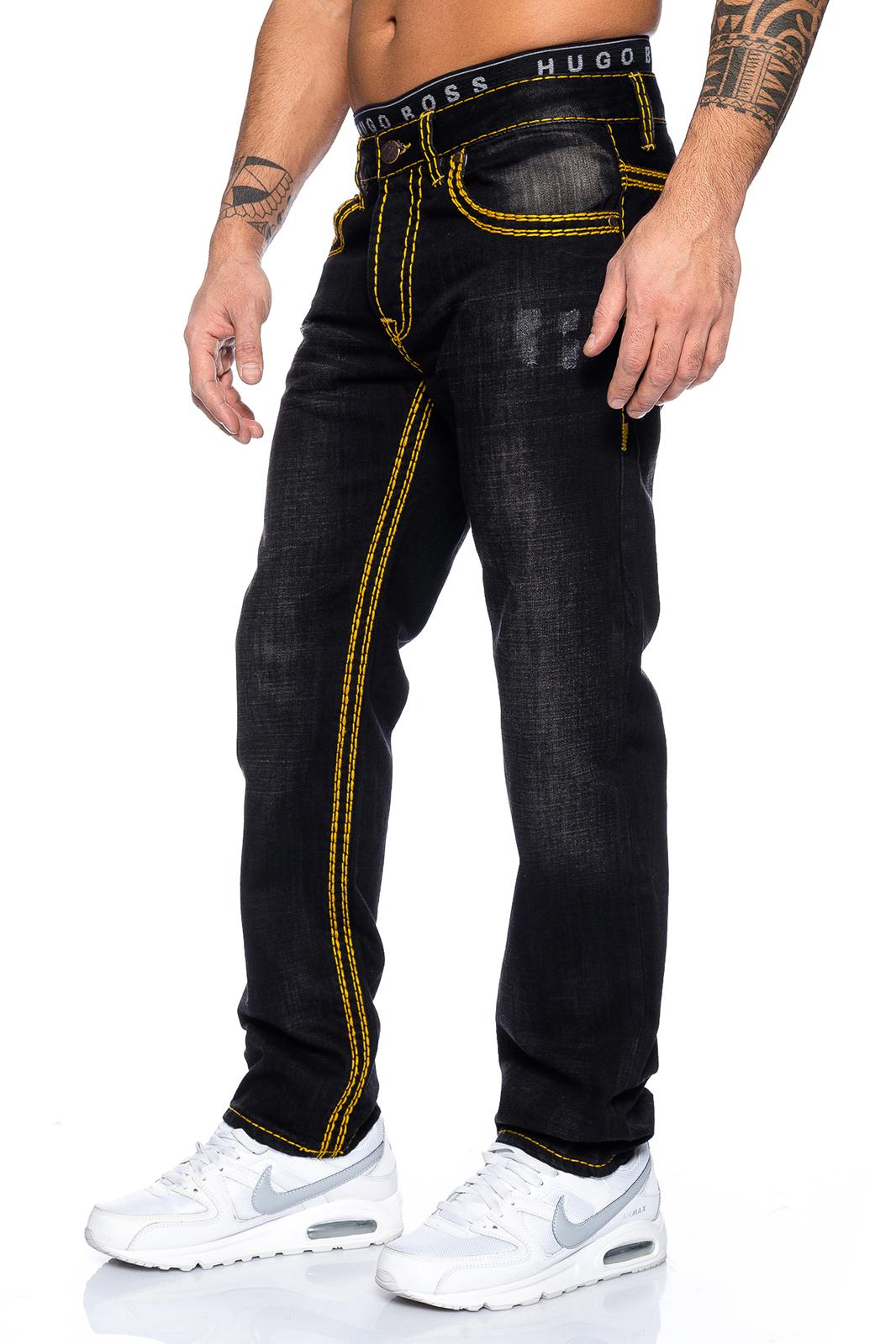 rock creek designer herren jeans hose denim schwarz used. Black Bedroom Furniture Sets. Home Design Ideas