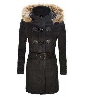 Eleganter Damen Winter Mantel Damenjacke Wo