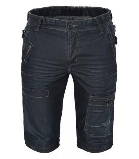 Coole Herren Jeans Hose Bermuda Hose Shorts Herren Shorts Schwarz Sommer