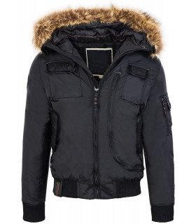 Outdoor herren jacke parka winterjacke kapuze fellkragen warm winter
