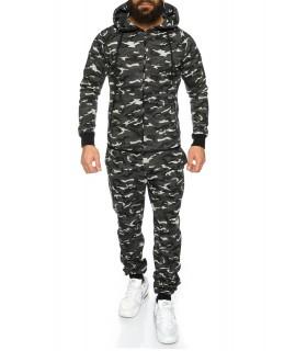 Herren Trainingsanzug Camouflage Fitness Anzug Jacke und Hose