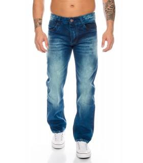 Rock-Creek Herren Jeans Cargo Style Stone Washed Clubwear Hose RC-2010