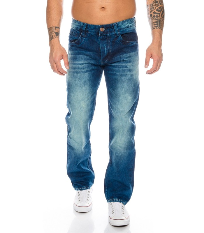 Rock-Creek Herren Jeans Cargo Style Stone Washed Clubwear Hose RC-2010