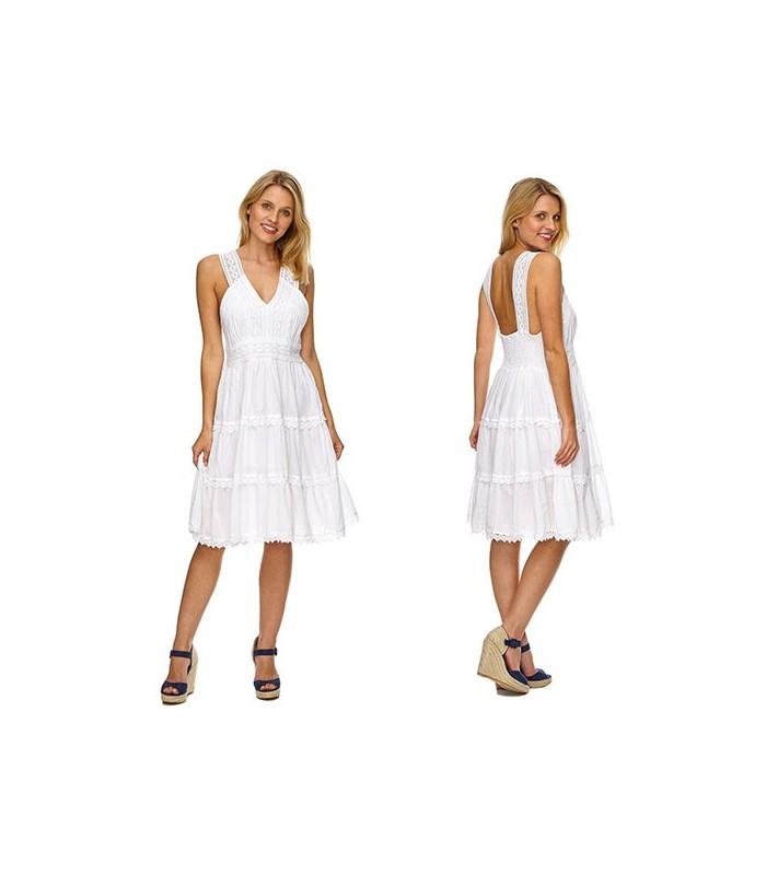 official photos 82a1e 981f4 Elegantes Damen Kleid Sommerkleid Weiß Kleider Abend Partykleid Spitze