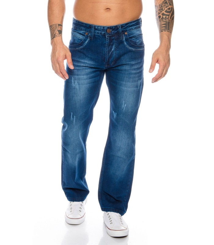 Coole Herren HERREN JEANS Party HOSE Dunkelblau WASH BLAU RC-2023