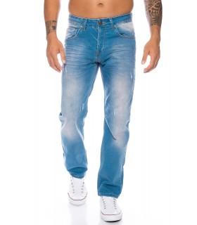 Designer Herren Jeans Hose Denim Regular Slim Jeans Hellblau