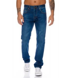 Lorenzo Loren Herren Jeans Denim Hose Blau Use