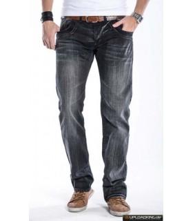 Herren Star Jeans Denim Hose Schwarz H-206