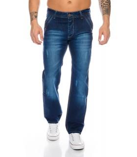 Designer Herren Jeans Hose Blau Vintage Clubwear Comfort Fit RC-2037