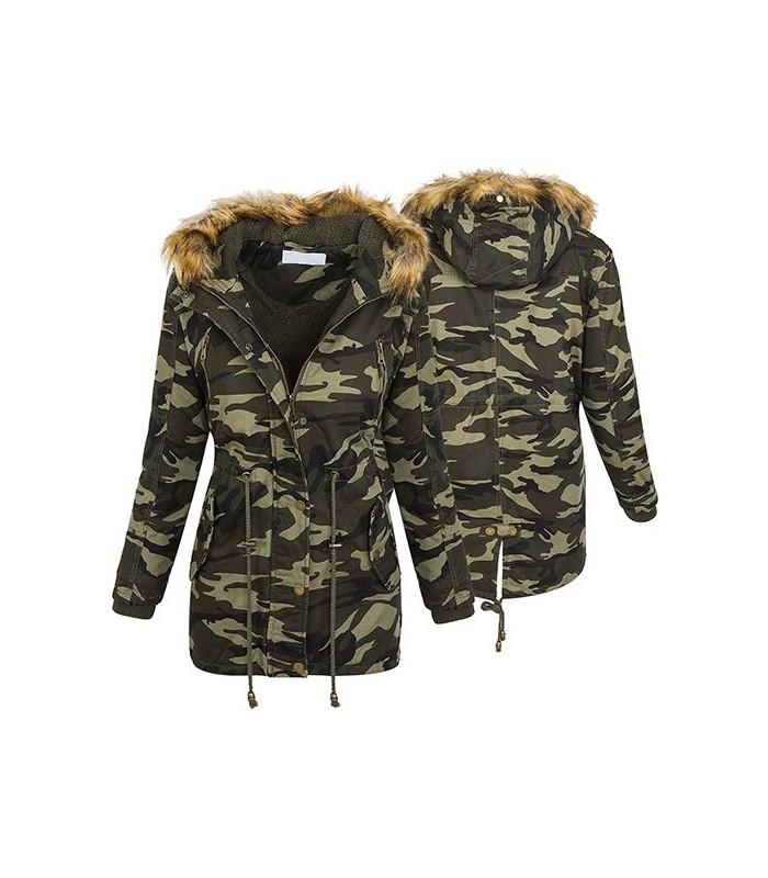 Schwarze camouflage jacke