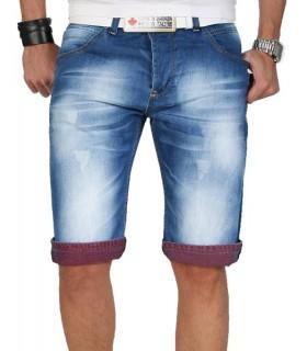 Herren Shorts Bermuda kurze Jeans Hose BLAU Capri