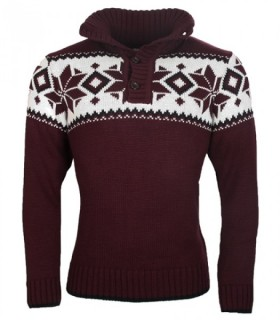 Strickjacke Norweger Pullover Grobstrick Cardigan Jacke Warm