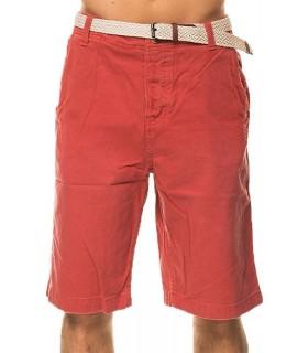 Chino Herren Bermuda Shorts HOSE mit Gürtel Kurz Sommer Blau, Rot, Grün