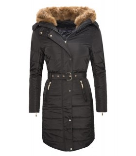 Damen Winter Mantel Steppjacke Kunstfell D-104