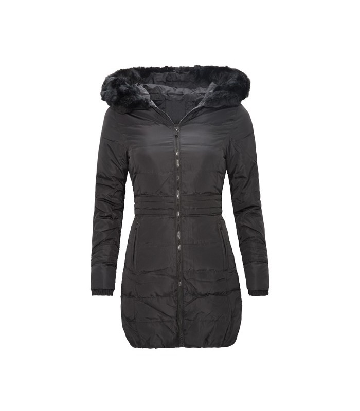 e618cc30a8c7db Damen Mantel Parka Winterjacke Daunenjacke Schwarz lang warm kaufen