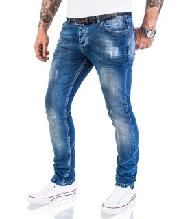Rock Creek Herren Jeans Stretch Slim Fit Blau RC-2113