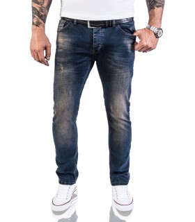 Rock Creek Herren Jeans Stretch Slim Fit Dunkelblau RC-2116