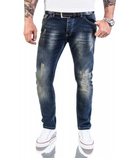 Rock Creek Herren Jeans Stretch Slim Fit Dunkelblau RC-2117