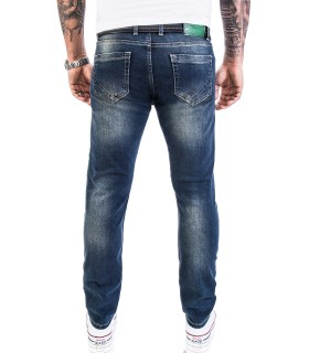 Rock Creek Herren Jeans Stretch Slim Fit Dunkelblau RC-2117