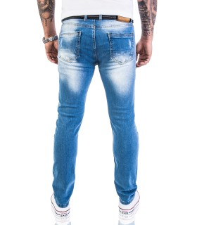 Rock Creek Herren Jeans Stretch Slim Fit Hellblau RC-2131