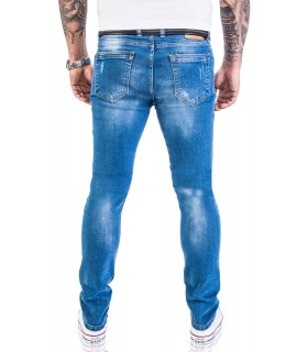 Rock Creek Herren Jeans Stretch Slim Fit Blau RC-2132