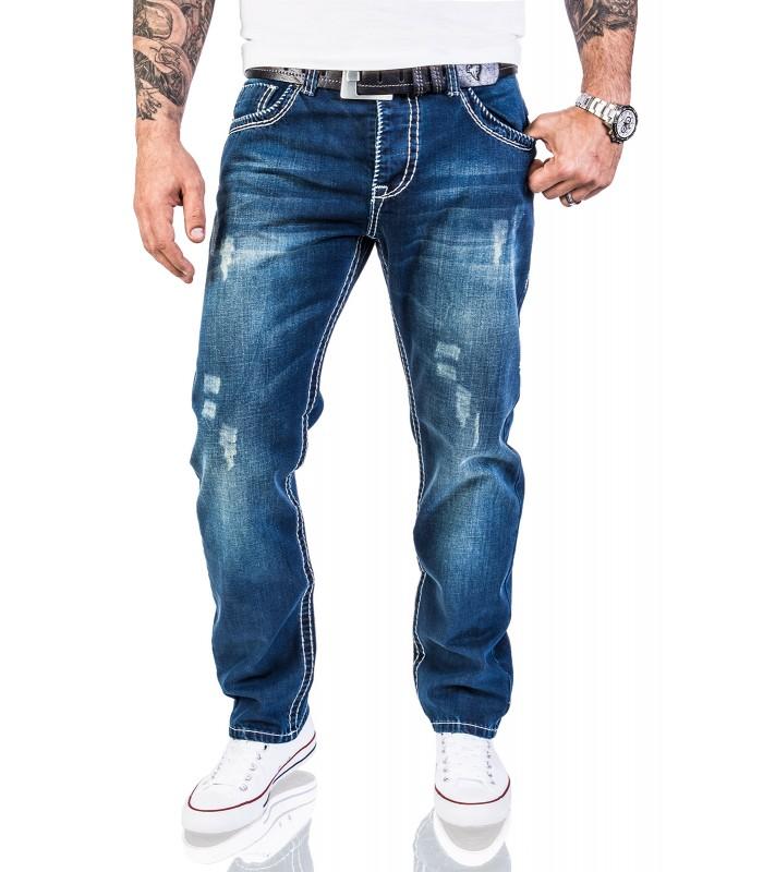 Rock Creek Herren Jeans Comfort Fit Blau RC 2056