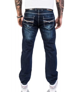 Herren Designer Jeans Verwaschen Used Vintage Look