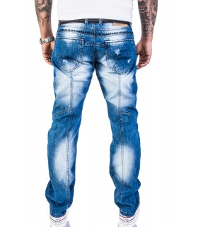 Rock Creek Herren Jeans Denim Vintage Blau RC-2011