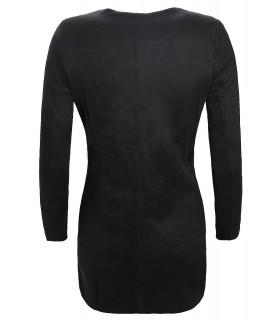Damen Mantel Übergangsjacke Rundhalsausschnitt D-131