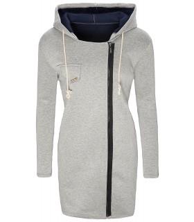 Damen Übergangs Mantel lange Jacke Einheitsgröße D-139